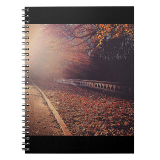 Fall Road Spiral Notebook