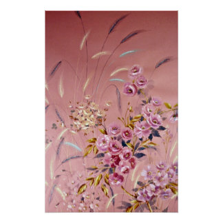 Fall romance Yellow flowers Posters