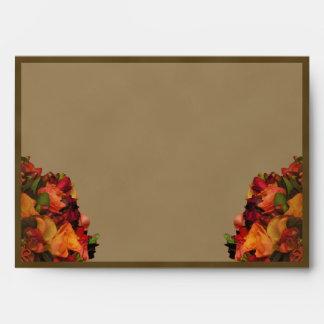 Fall Rose Bouquet Envelope