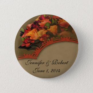 Fall Rose Bouquet Pinback Button