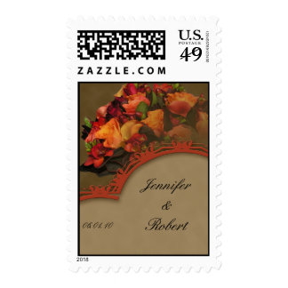 Fall Rose Bouquet Postage Stamp