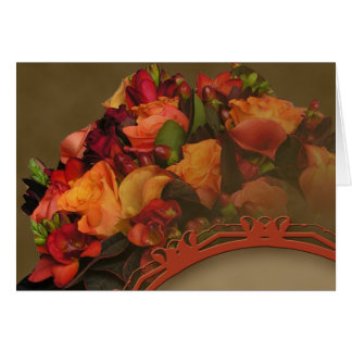 Fall Rose Bouquet Thank You card
