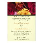 Fall Rose Floral Wedding Invitation