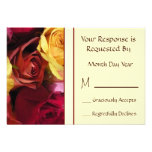 Fall Roses Floral RSVP Card Invitation