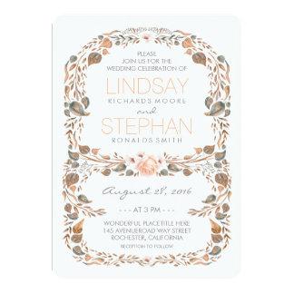 Fall Rustic Woodland Garden Vintage Wedding Card