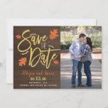 Fall Save The Date Gold and Argyle