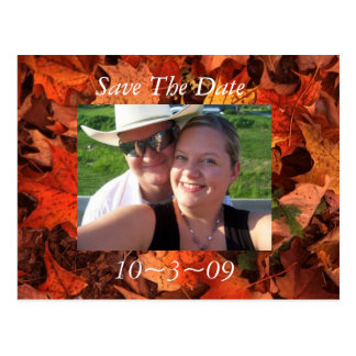 Fall Save the Date Post Cards