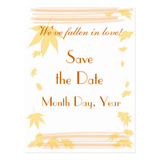 Fall Save the Date Postcard
