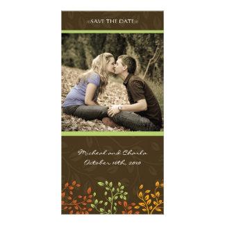 Fall Save the Date Wedding Photocard (4x8) Custom Photo Card
