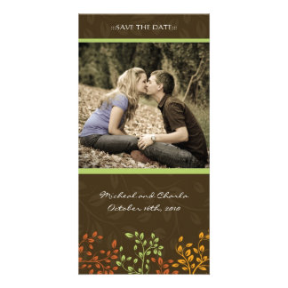Fall Save the Date Wedding Photocard (4x8) Card