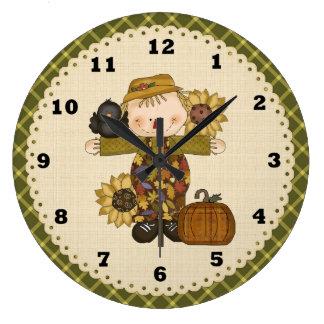 Fall Scarecrow clock