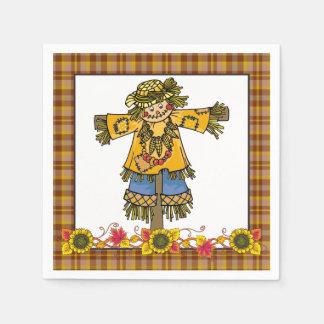 Fall Scarecrow paper napkins seasonal