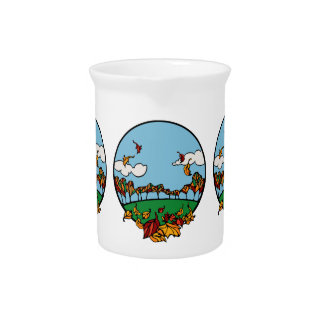 Fall Scene Beverage Pitchers