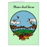 Fall Scene Cards