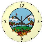 Fall Scene Clock