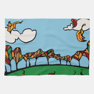 Fall Scene Hand Towels