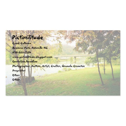 Fall Scene in Marshall, NC Business Card
