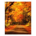 fall scene photo print