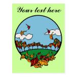 Fall Scene Post Card