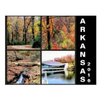 Fall Scenery in Arkansas Travel Postcard