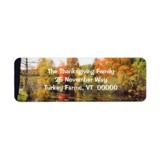 Fall Scenery Return Address Stickers