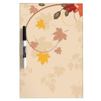 fall season background dry erase board