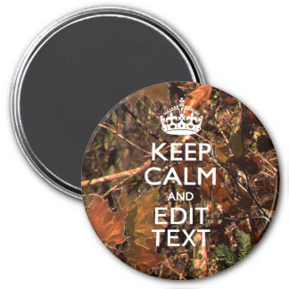Fall Season Camouflage Keep Calm Your Text Magnet