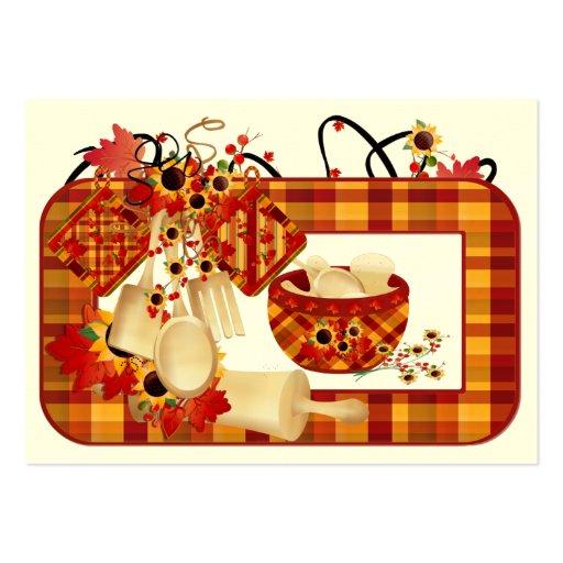Fall Season Enclosure Card / Tag - SRF Business Card Template