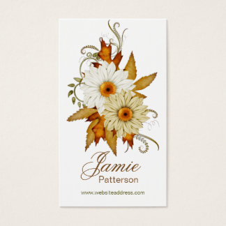 Fall Season Flower Vertical Business Cards 9