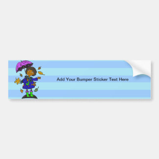 Fall Season Girl Bumper Sticker