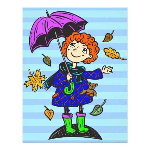 Fall Season Girl Custom Flyer