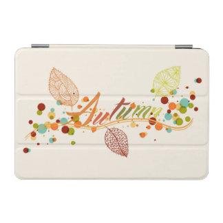 Fall Season Leaf And Bubbles Composition iPad Mini Cover
