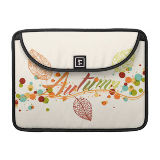 Fall Season Leaf And Bubbles Composition MacBook Pro Sleeve