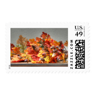 Fall Season Leafs Postage Stamps