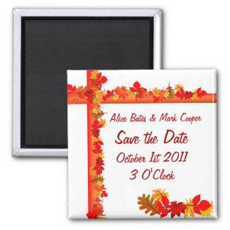 Fall Season Save the Date Refrigerator Magnet