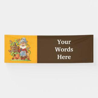 Fall Seasonal scarecrow add words Festival banner