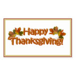Fall Seasons Best Happy Thanksgiving Text Double-Sided Standard Business Cards (Pack Of 100)