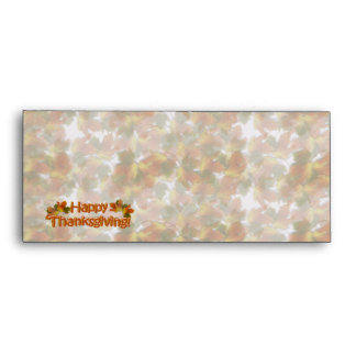 Fall Seasons Best Happy Thanksgiving Text Envelopes