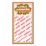 Fall Seasons Best Happy Thanksgiving Text Picture Card