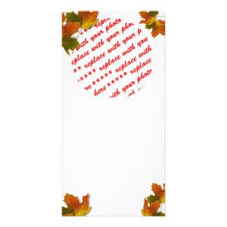 Fall Seasons Best Photo Card Template Photo Greeting Card