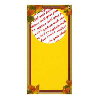 Fall Seasons Best Photo Card Template Picture Card