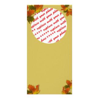 Fall Seasons Best Photo Card Template Customized Photo Card