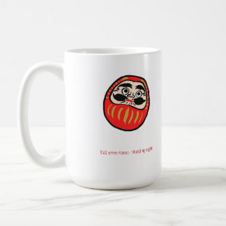 Fall Seven Times Stand Up Eight Classic White Coffee Mug
