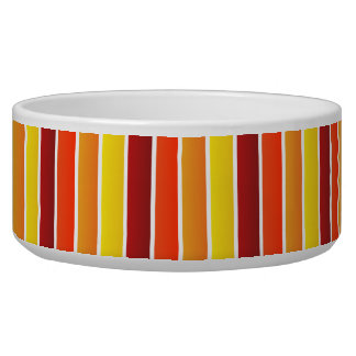 Fall Shades Stripes Pattern For Spoiled Pooches Bowl