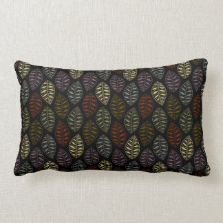 Fall Skeleton Leaf Pattern | Changeable Background Pillow