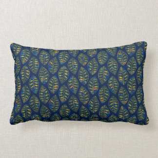 Fall Skeleton Leaf Pattern | Changeable Background Throw Pillows