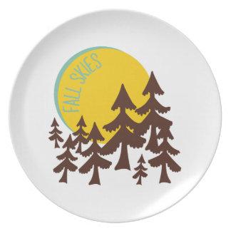 Fall Skies Dinner Plates