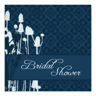 Fall Sophistication Navy BRS Invitation Square