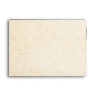 Fall Spice Orange Damask: Custom Linen Wedding A-7 Envelopes