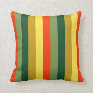 Fall Spice Palette Stripes Pillow